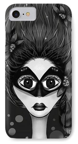 Masquerade Bw IPhone Case