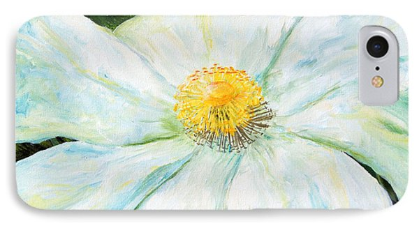 IPhone Case featuring the painting Matilija Poppy by Terry Taylor