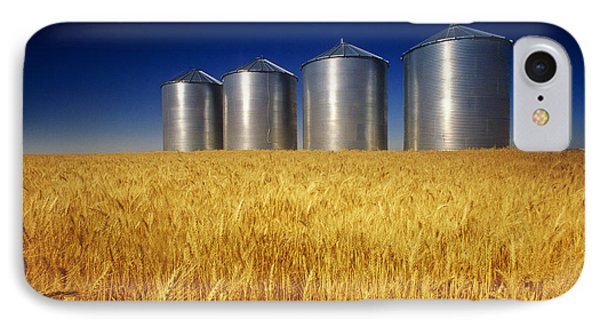 Mature Winter Wheat Field With Grain Phone Case by Dave Reede