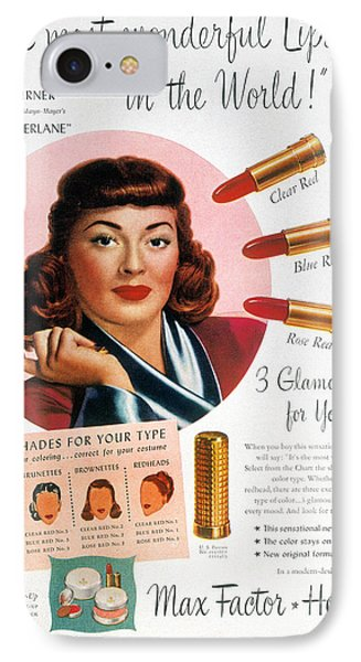 Max Factor Lipstick Ad IPhone Case