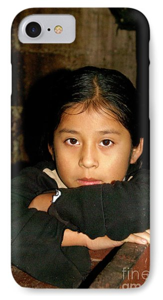 IPhone Case featuring the photograph Maya Girl Coban Guatemala by John  Mitchell