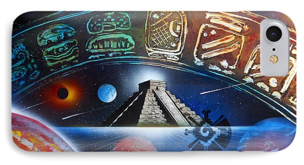 Mayans 2012 Masters Of Time IPhone Case by Angel Ortiz