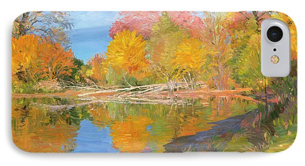 Mayslake At Fall Phone Case by Judith Barath