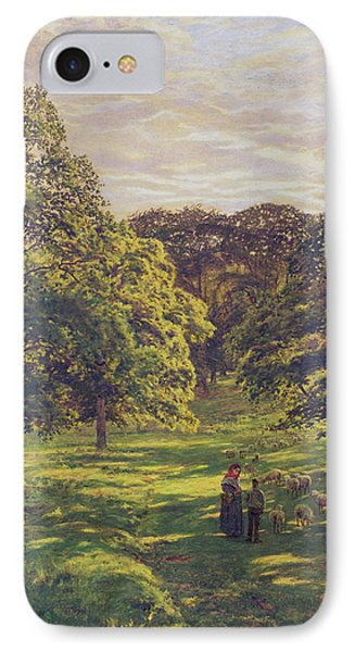 Meadow Scene  Phone Case by John William Buxton Knight