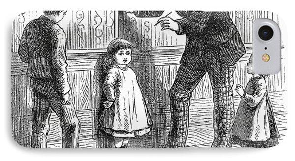 Measuring Children, 1876 Phone Case by Granger
