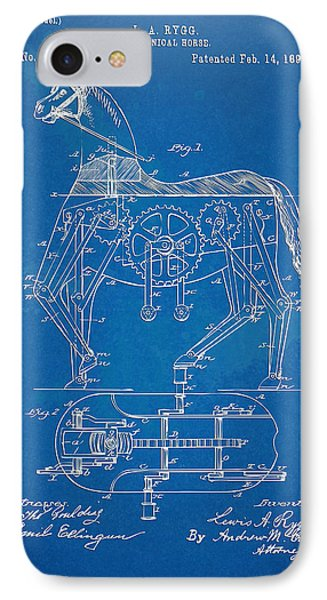 Mechanical Horse Toy Patent Artwork 1893 Phone Case by Nikki Marie Smith
