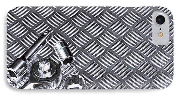 Mechanical Socket Background Phone Case by Richard Thomas