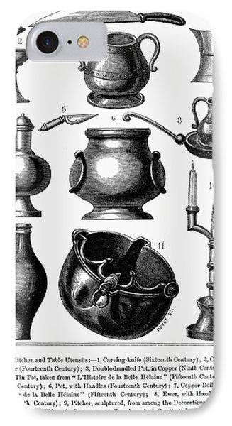 Medieval Utensils Phone Case by Granger