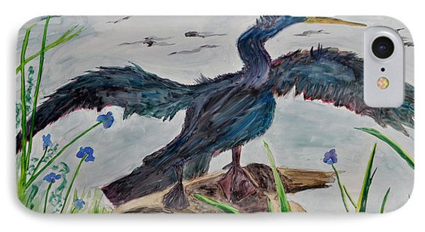 Anhinga-drying Out Phone Case by Mickey Krause