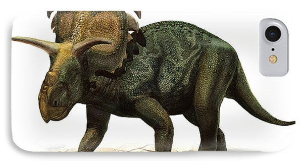 Medusaceratops Lokii, A Prehistoric Era Phone Case by Sergey Krasovskiy