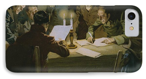 Meeting Of The First Partisans Resisting The Occupiers IPhone Case by Italian School