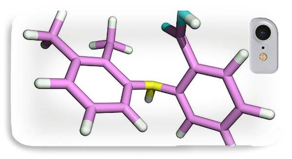 Mefenamic Acid Drug Molecule Phone Case by Dr Tim Evans