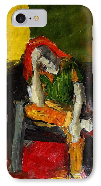 Melancholy IPhone Case by Mona Edulesco
