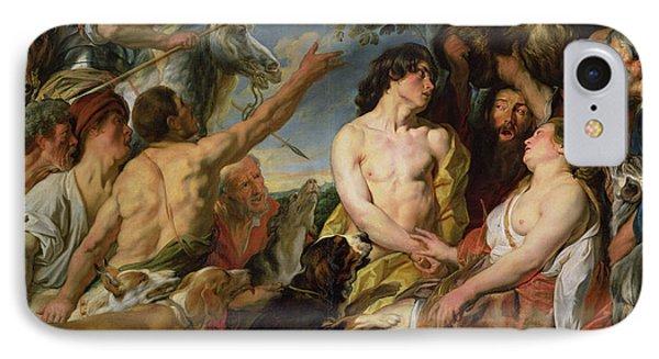 Meleager And Atalanta Phone Case by Jacob Jordaens