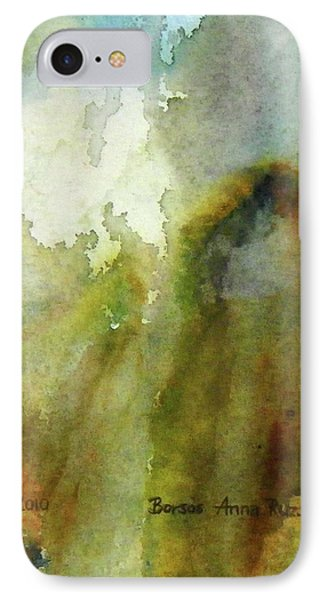IPhone Case featuring the painting Melting Mountain by Anna Ruzsan