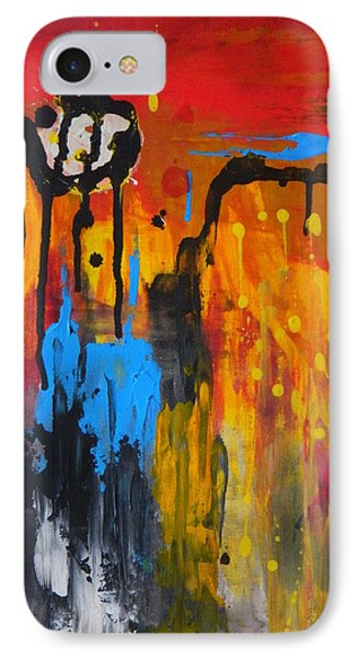 IPhone Case featuring the painting Melting Point by Everette McMahan jr