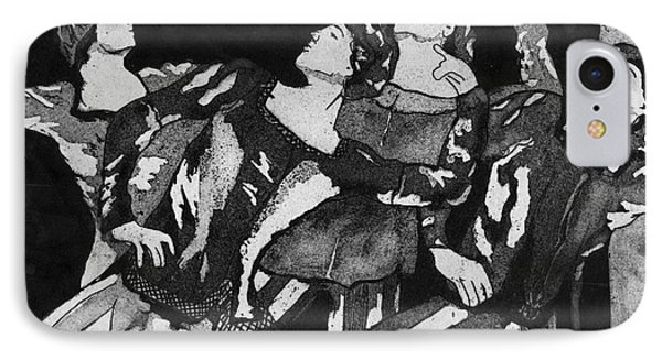 Men In Tights IPhone Case by Colleen Kammerer