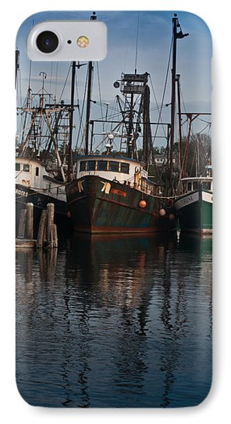 Menemsha Village Fishing Boats Phone Case by Peggie Strachan