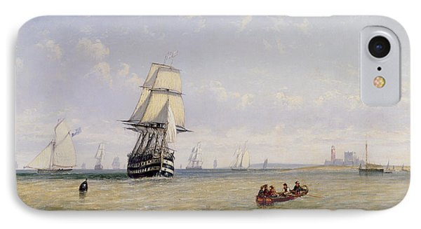 Meno War Schooners And Royal Navy Yachts Phone Case by Claude T Stanfield Moore