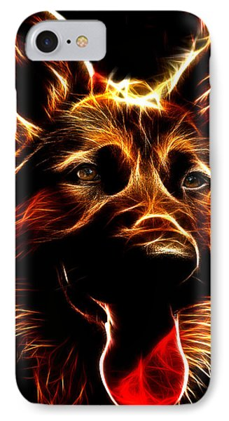 Mens Best Friend - German Shepherd Portrait IPhone Case