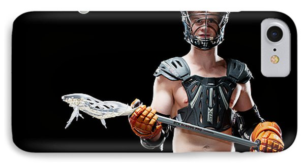 Mens Lacrosse  IPhone Case by Jim Boardman