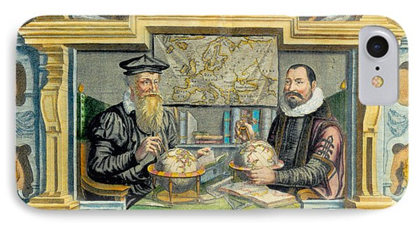 Mercator And Hondius Phone Case by Science Source