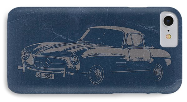 Mercedes Benz 300 Sl IPhone Case by Naxart Studio