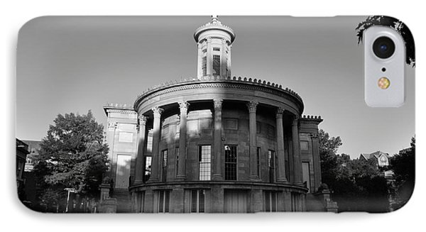Merchant Exchange Building - Philadelphia In Black And White Phone Case by Bill Cannon