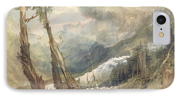 Mere De Glace - In The Valley Of Chamouni Phone Case by Joseph Mallord William Turner