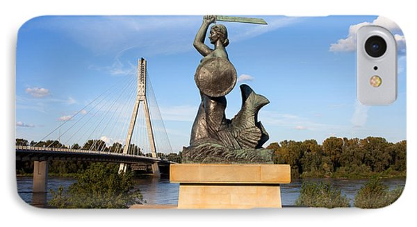 Mermaid Statue IPhone Case by Artur Bogacki