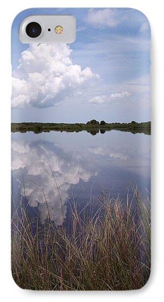 Merritt Island Fl Reflections Wildlife Preserve IPhone Case by Rebecca Overton