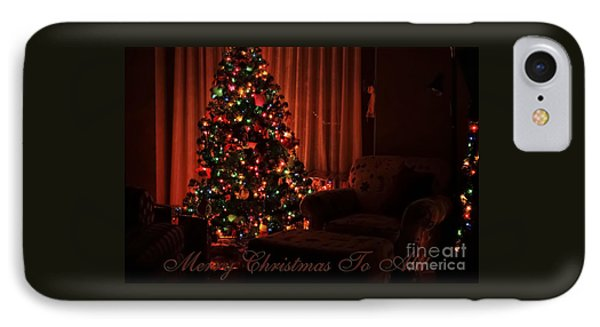 Merry Christmas To All Christmas Card IPhone Case
