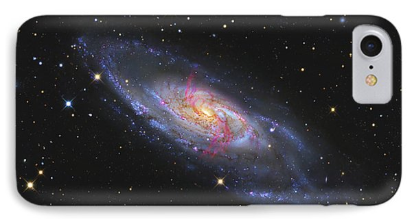 Messier 106, A Spiral Galaxy With An Phone Case by R Jay GaBany