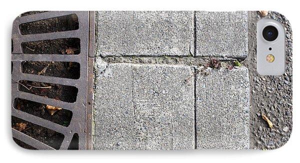 Metal Grate On Sidewalk Phone Case by Paul Edmondson