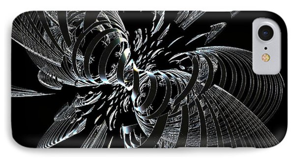 IPhone Case featuring the digital art Metalic Butterfly by Greg Moores