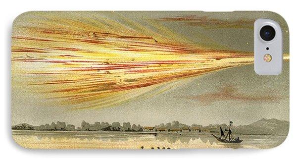 Meteorite Explosion, Historical Artwork Phone Case by Detlev Van Ravenswaay