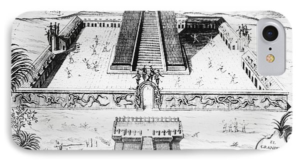 Mexico: Aztec Temple, 1765 Phone Case by Granger