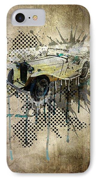 Mg Tc Roadster Phone Case by Svetlana Sewell