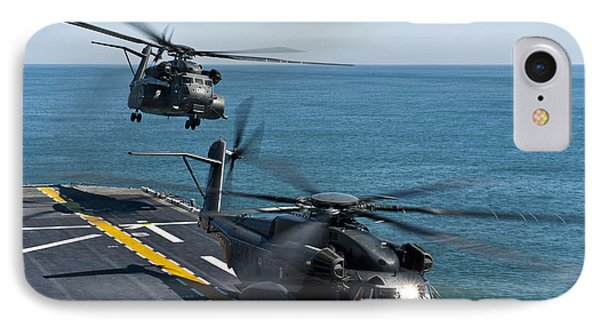 Mh-53e Sea Dragon Helicopters Take Phone Case by Stocktrek Images