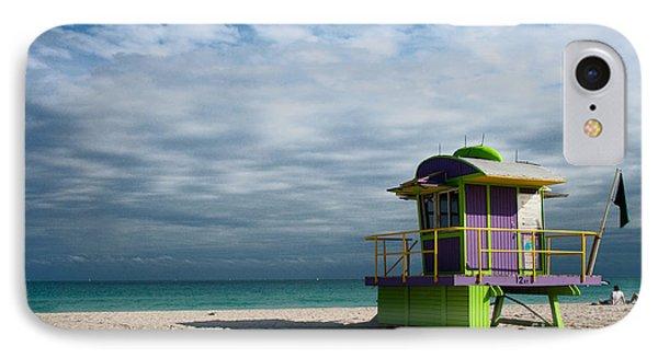 Miami 12th Street Beach  Phone Case by Barbara McMahon