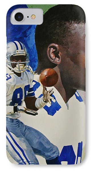 Michael Irvin IPhone Case by Cliff Spohn
