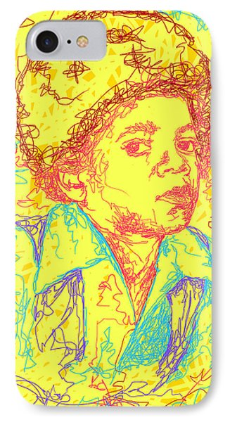 Michael Jackson Abstraction Phone Case by Kenal Louis
