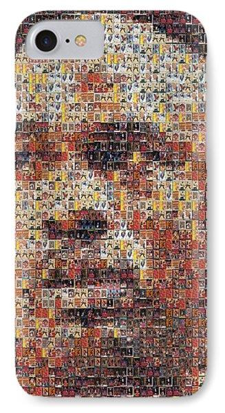 Michael Jordan Card Mosaic 3 IPhone Case by Paul Van Scott