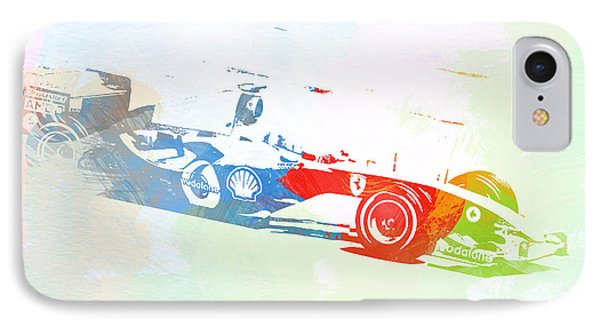 Michael Schumacher IPhone Case by Naxart Studio
