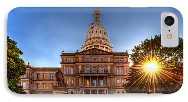Michigan Capitol - Hdr-1 IPhone Case by Larry Carr