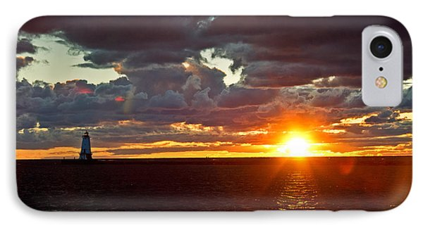 IPhone Case featuring the photograph Michigan Sunset by Randall  Cogle
