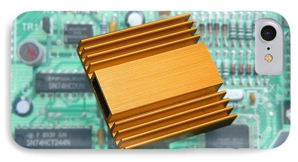 Microchip Processor Heat Sink Phone Case by Sheila Terry