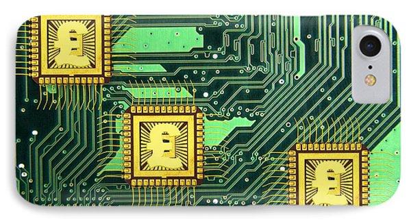 Microchip Sales, Conceptual Image Phone Case by Victor De Schwanberg