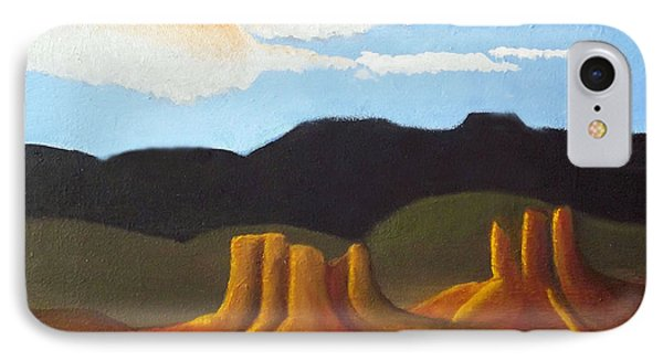 Mid-morning On A Western Plains IPhone Case by Margaret Harmon