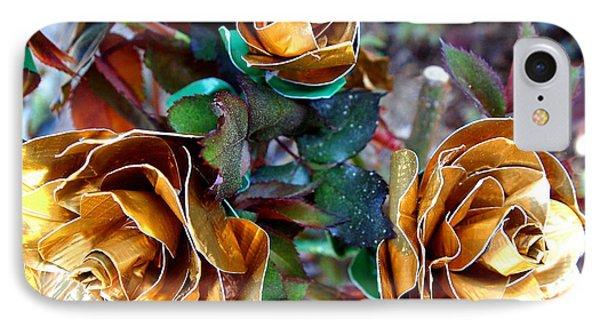 Midas Touch Duck Tape Roses Phone Case by Laura  Grisham